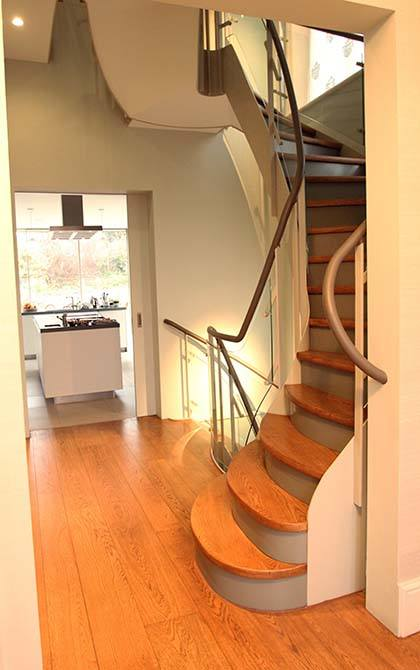 Arkwright curved staircase