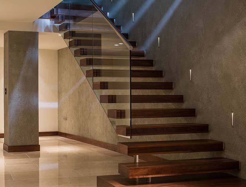 Timber cantilever staircase