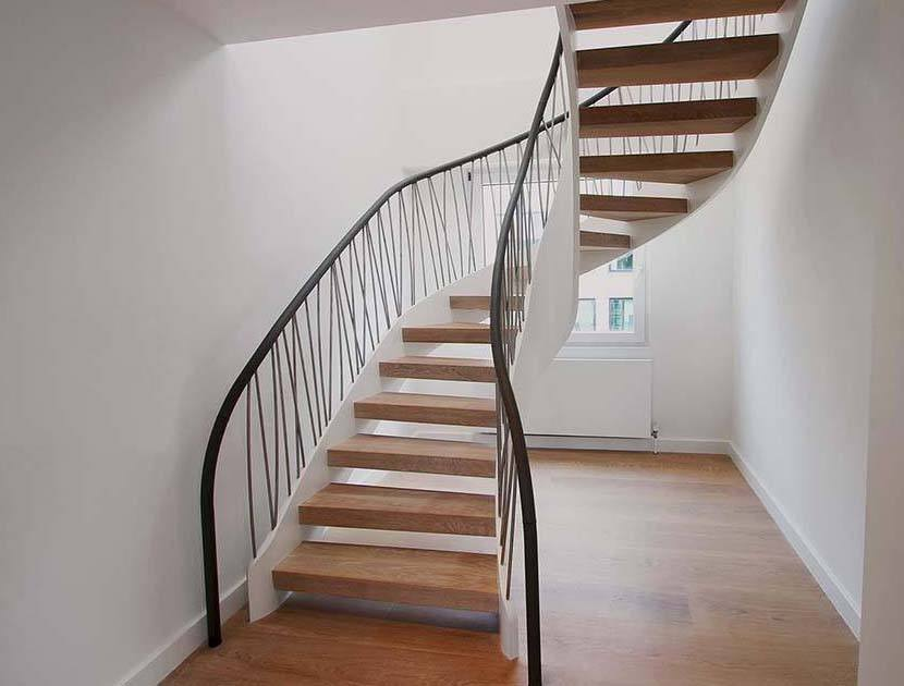 Timber Helical Staircase