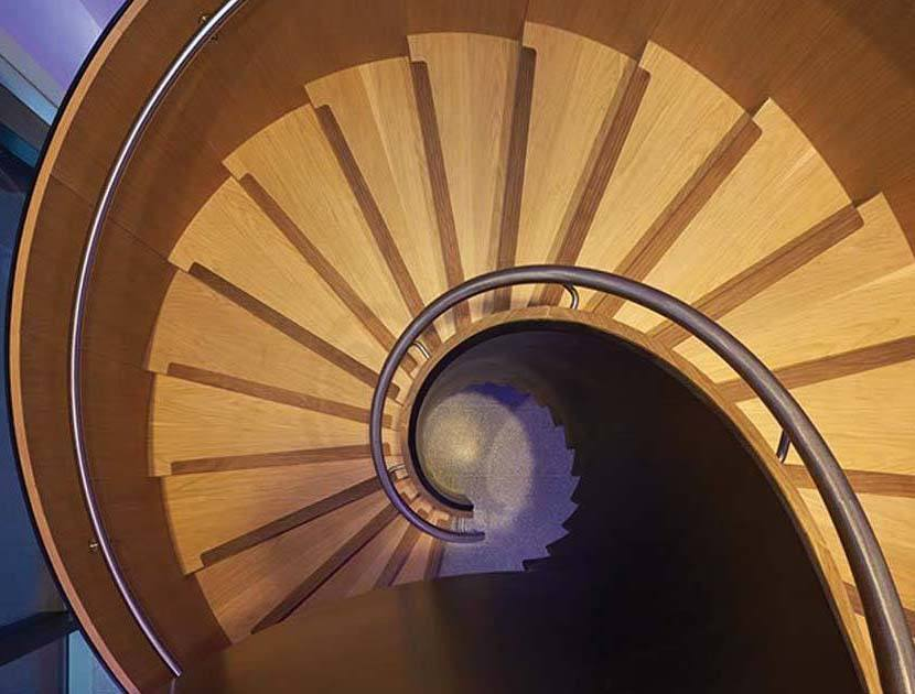 Timber Helical Stairs