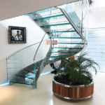 Glass Helical Staircase
