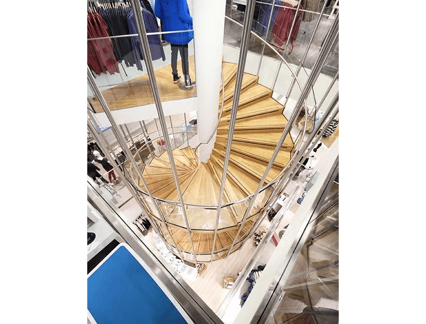retail spiral staircase