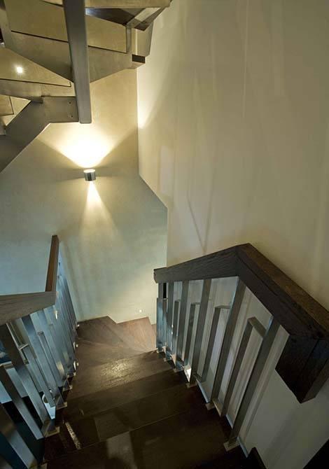 Blue-metal-stair