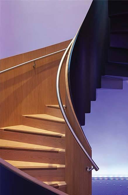 Bonhams metal curved stairs