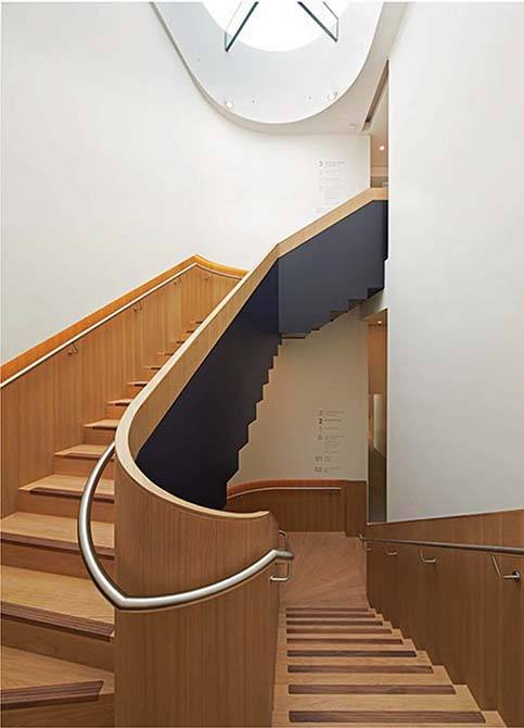 Bonhams timber clad staircase