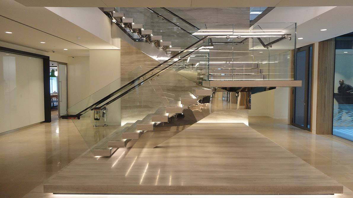 Burlington Glass Commercial Staircase Canal Architectural