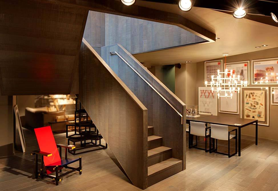 Cassina timber steel staircase