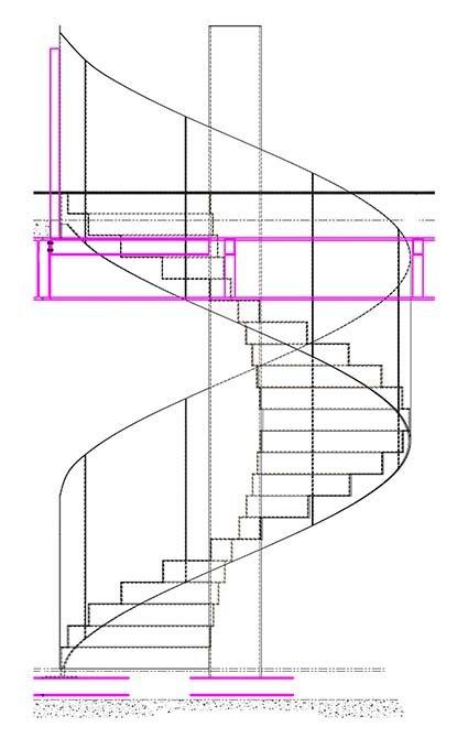 dandd metal sprayed staircase drawing