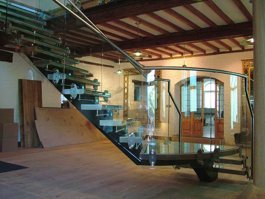 Flint glass balustrade