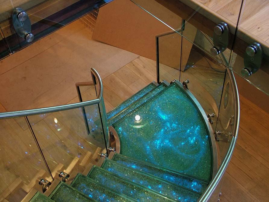 Flint glass staircase