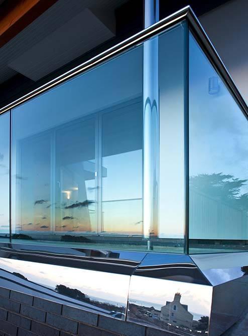 Floreal stainless steel glass balustrade