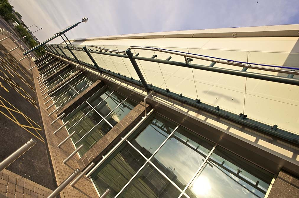 Gallagher glass canopy