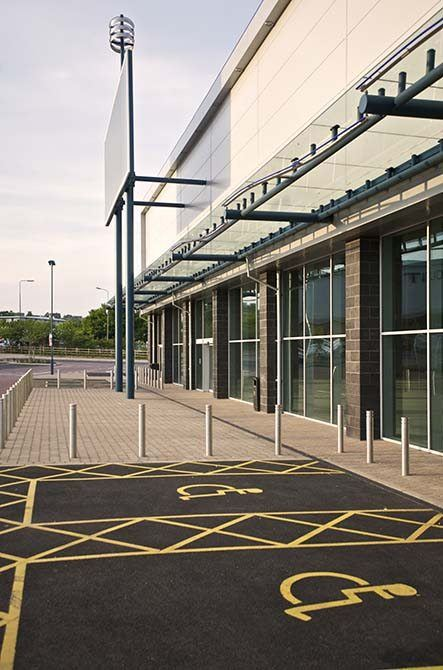 Gallagher steel glass canopy