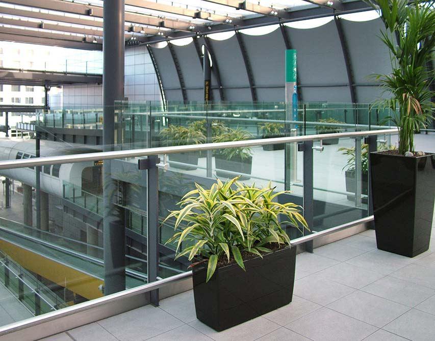 Gatwick glass balustrade
