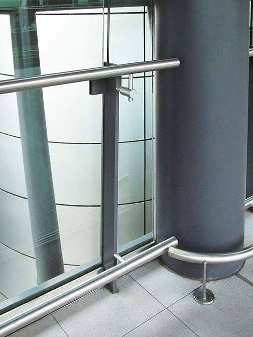 Gatwick stainless steel glass balustrade