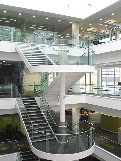Harbourside glass steel staircase