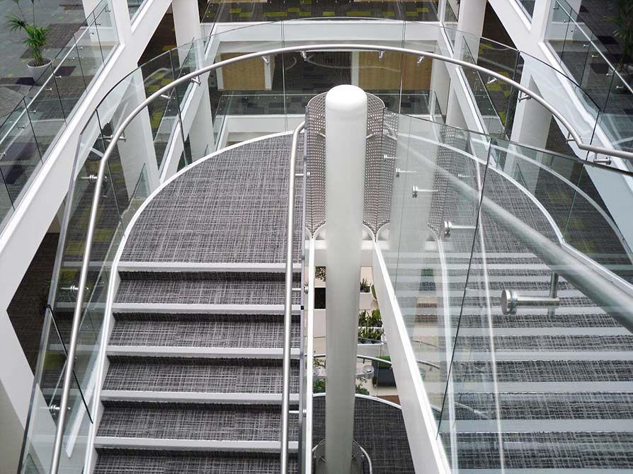 Harbourside steel glass balustrade