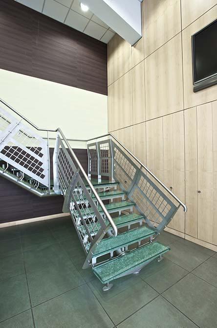 Hesco glass stair