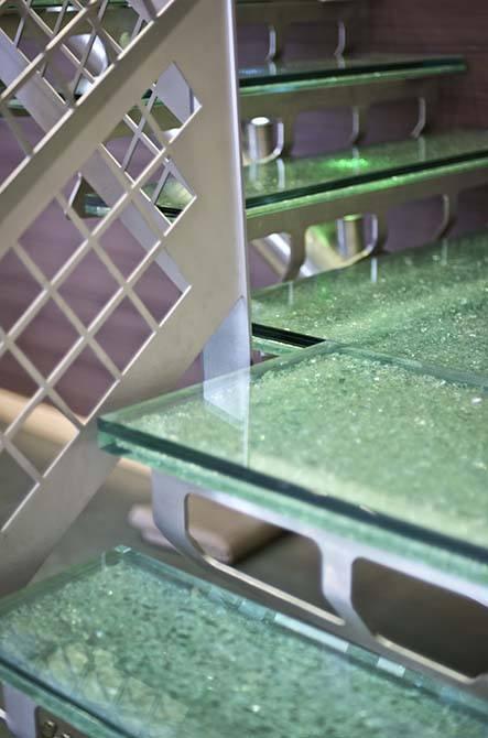 Hesco glass staircase