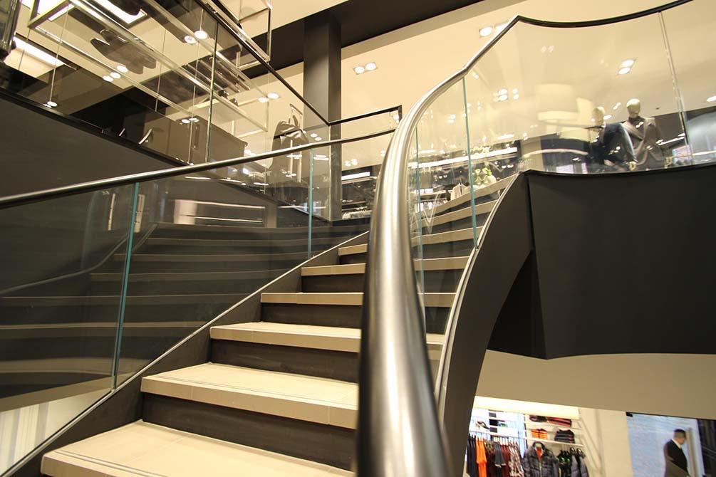 Hugo Boss Nottingham Bespoke Staircase