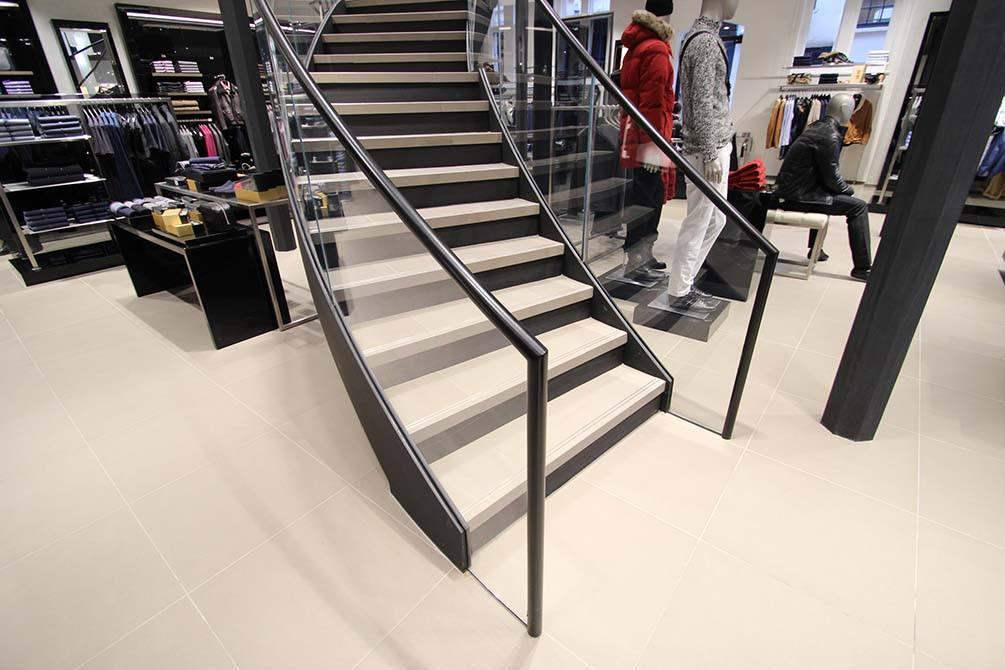 Hugo Boss Nottingham Curved stairs