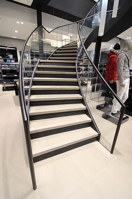 Hugo Boss Nottingham Helical stairs