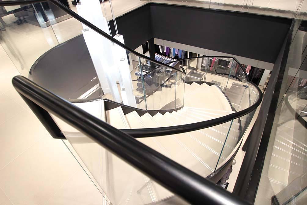 Hugo Boss Nottingham architectural handrail