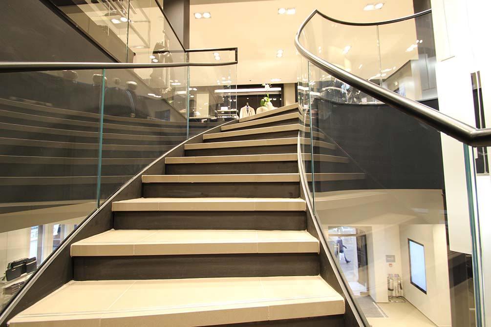 Hugo Boss Nottingham contemporary staircase