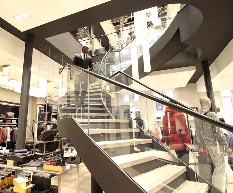 Hugo Boss Nottingham curved staircase