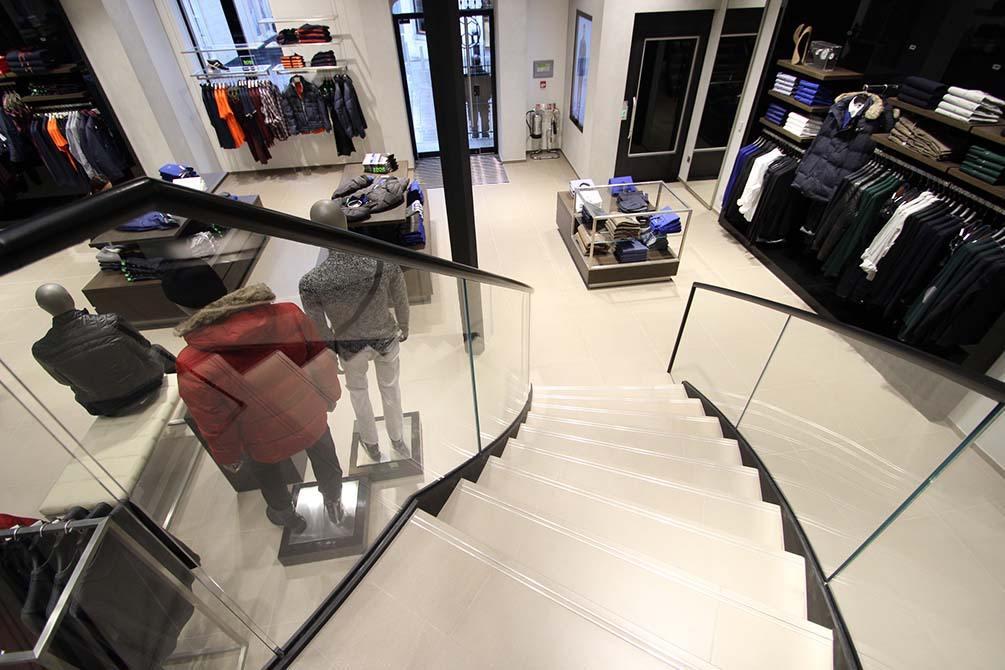 Hugo Boss Nottingham custom staircase