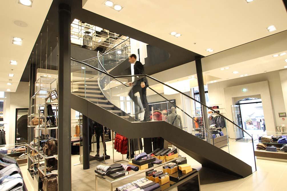 Hugo Boss Nottingham designer stairs