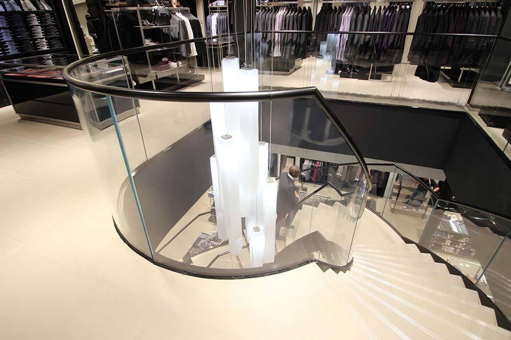 Hugo Boss Nottingham glass balustrades