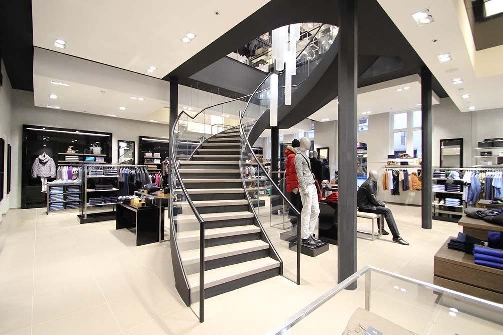 hugo boss nottingham helical staircases