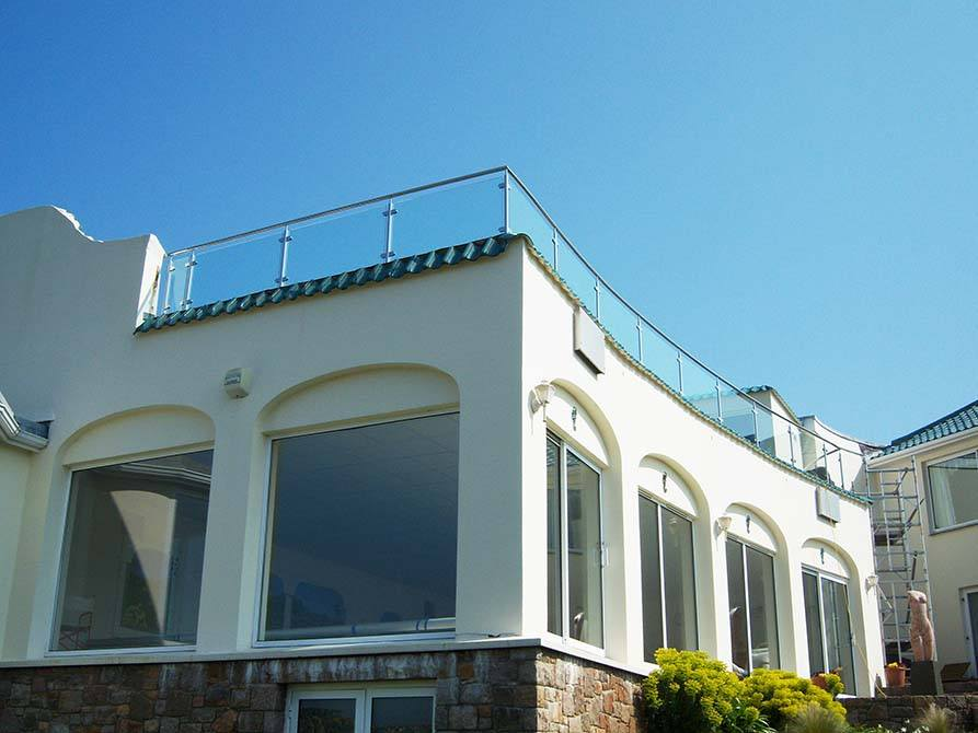 Jersey stainless steel glass balustrade