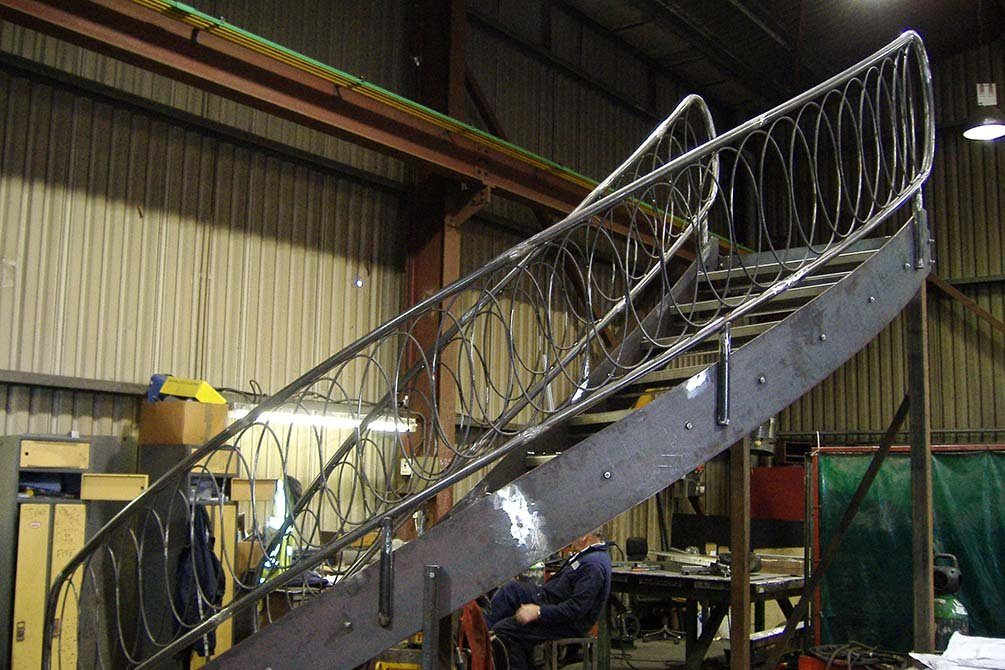 Lepore metal curved stairs