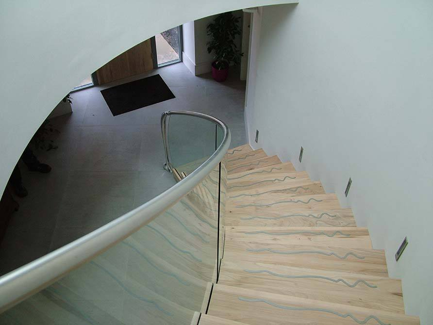 Madden cantilever steel timber staircase