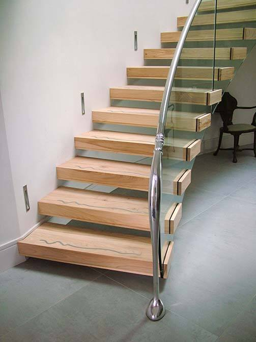 Madden contemporary floating stair