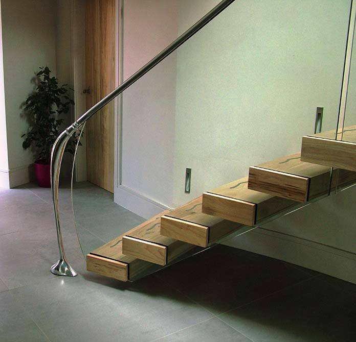 Madden contemporary floating staircase