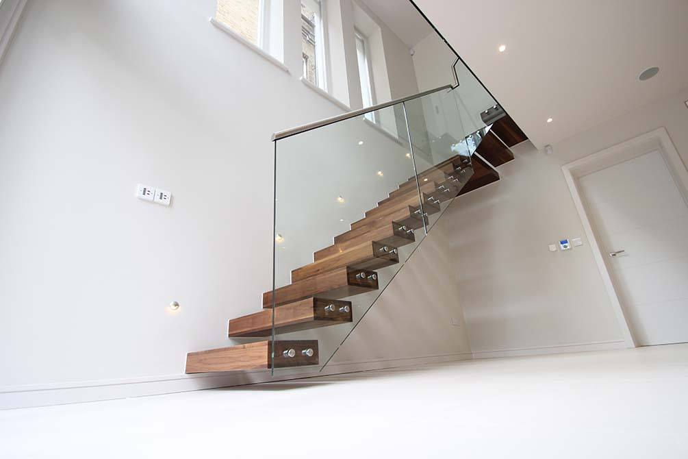 Montague contemporary floating staircase