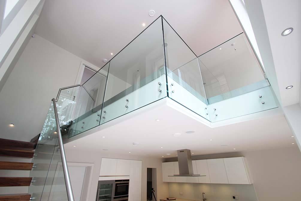 Montague contemporary glass balustrade