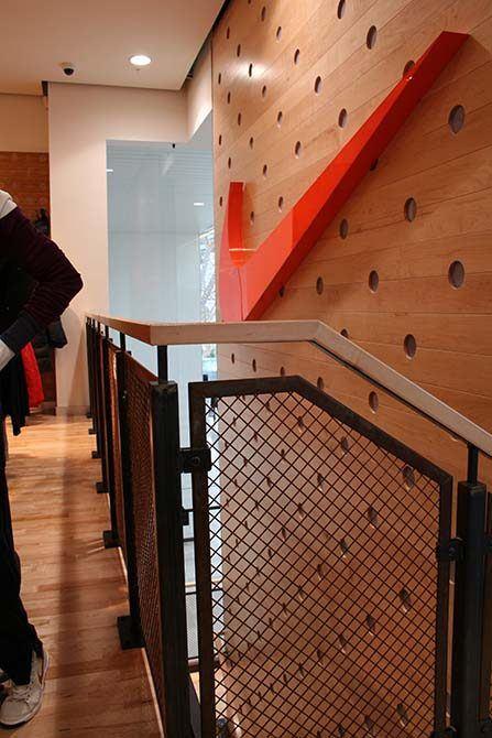 Nike metal balustrade
