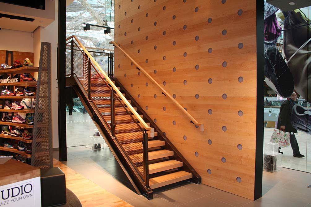 Nike metal stairs