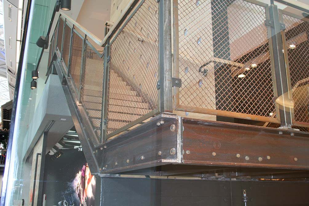 Nike modern architectural staircase