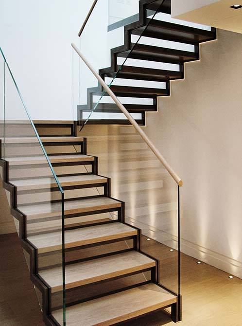 Staircase Regulations Uk >> North Audley: Seamless Open Riser Stair - Canal Archtectural