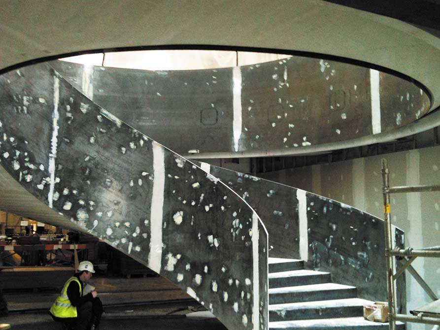 Ogier Site welding steel balustrade staircase
