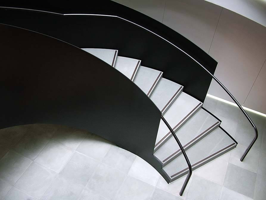 Ogier painted steel staircase