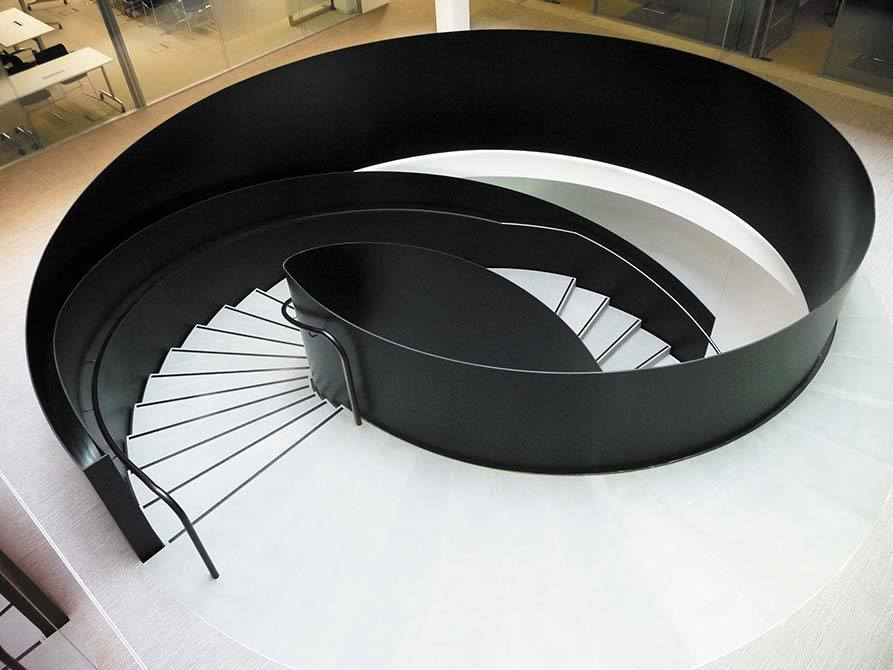 Ogier steel stone staircase