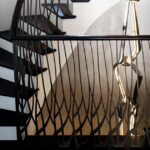 laser cut balustrade with spiral stairs