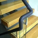 Leather handrail