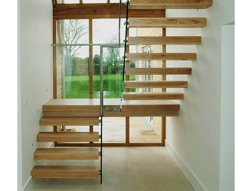 Timber Open Riser Staircase